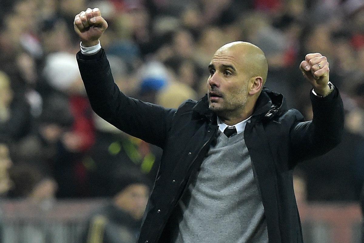 Pep Guardiola celebra un gol del Bayern ante la Juventus. (AFP)