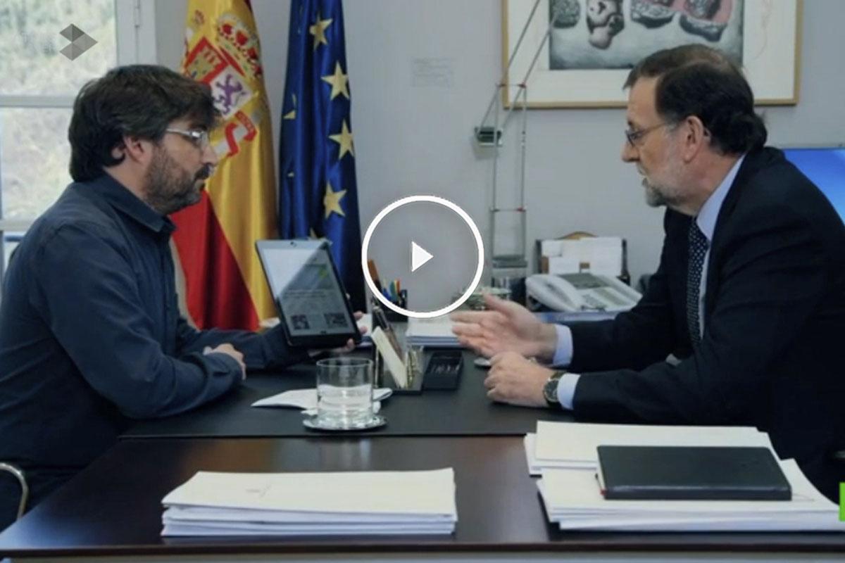 Jordi Évole y Mariano Rajoy en el programa Salvados