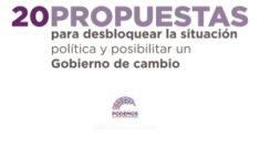 Portada del documento de Podemos.