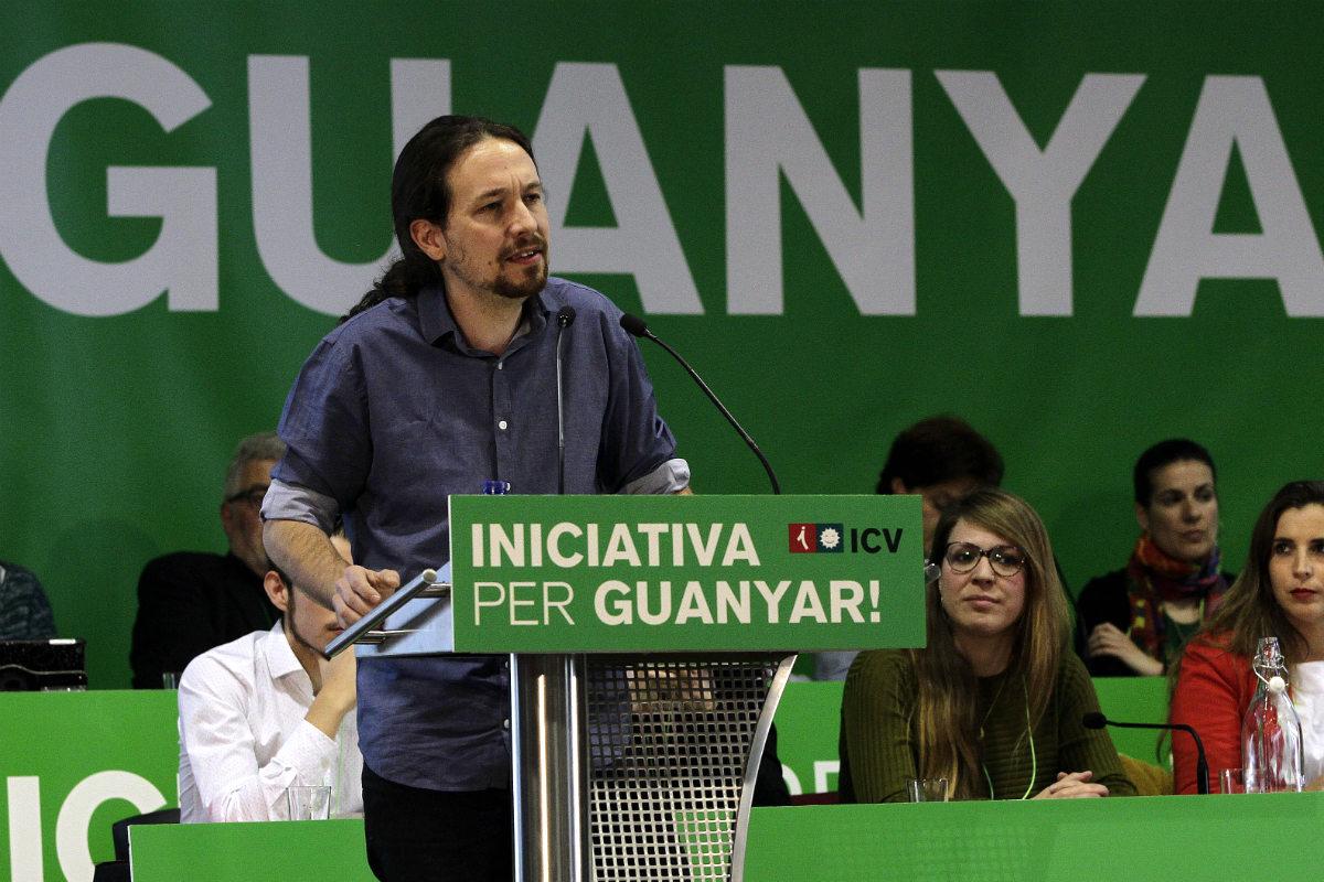 Pablo Iglesias, líder de Podemos, en Barcelona. (EFE)
