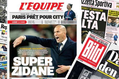 Zidane , protagonista de la portada de L'Equipe.