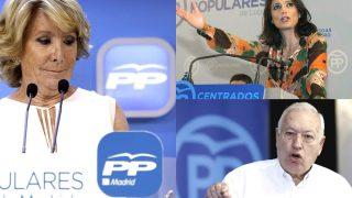 Esperanza Aguirre, Andrea Levy y José Manuel García-Margallo. (Fotos: EFE)