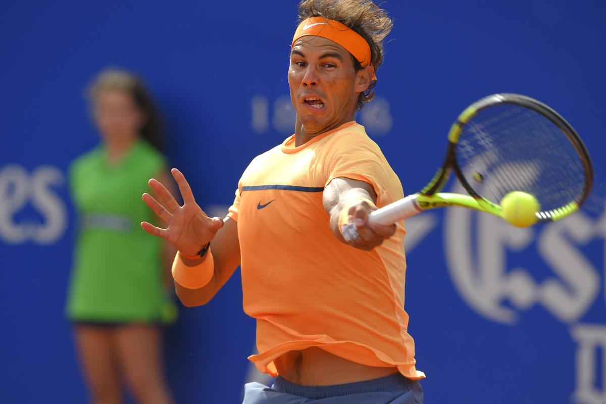 Rafa Nadal doblegó a Granollers en dos sets en su primer partido en Barcelona. (AFP)