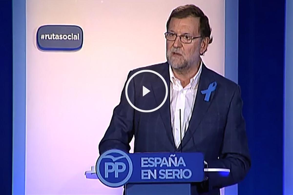 Mariano Rajoy durante su última conferencia de prensa.