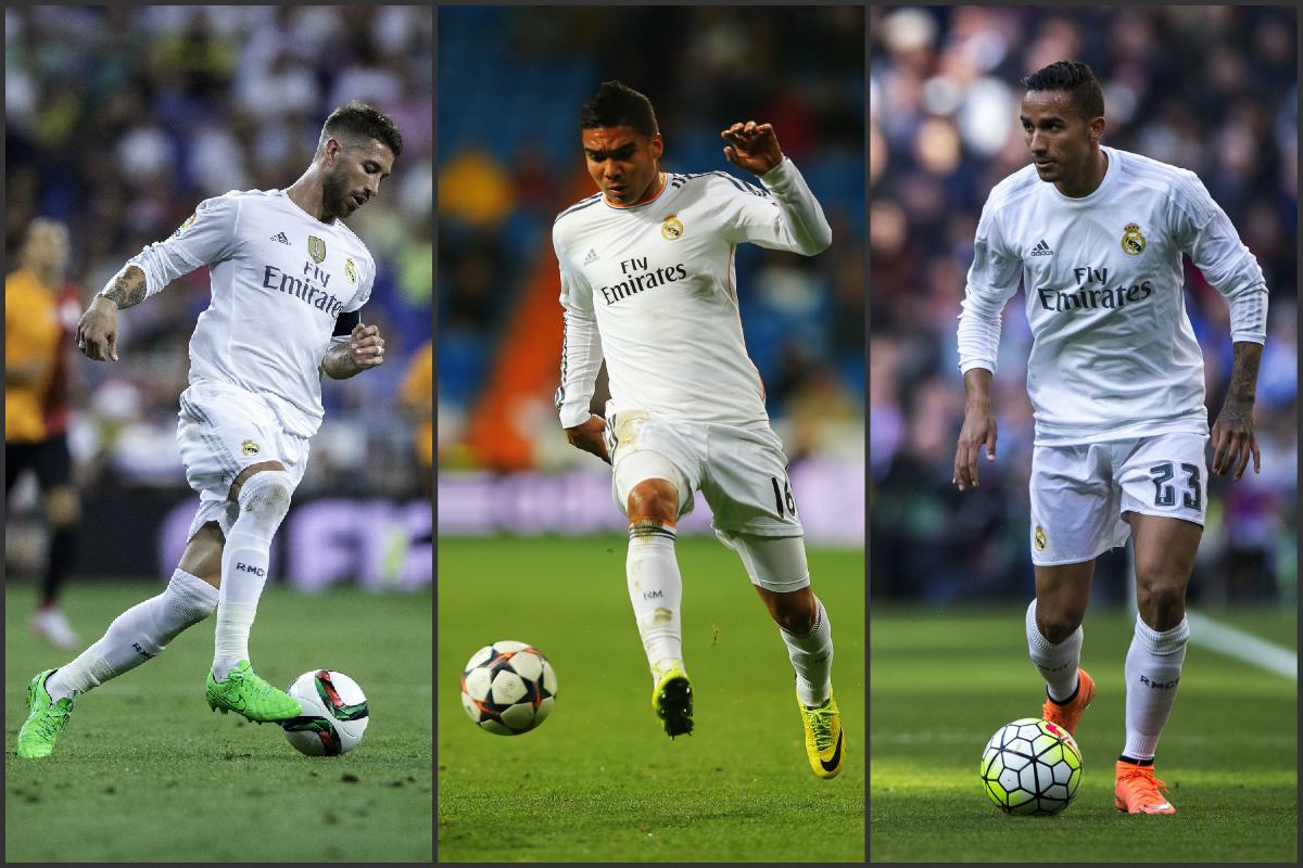Ramos, Casemiro y Danilo se perderán la vuelta si ven una amarilla. (Getty)