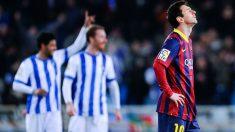 A Messi no se le da bien Anoeta. (Getty)