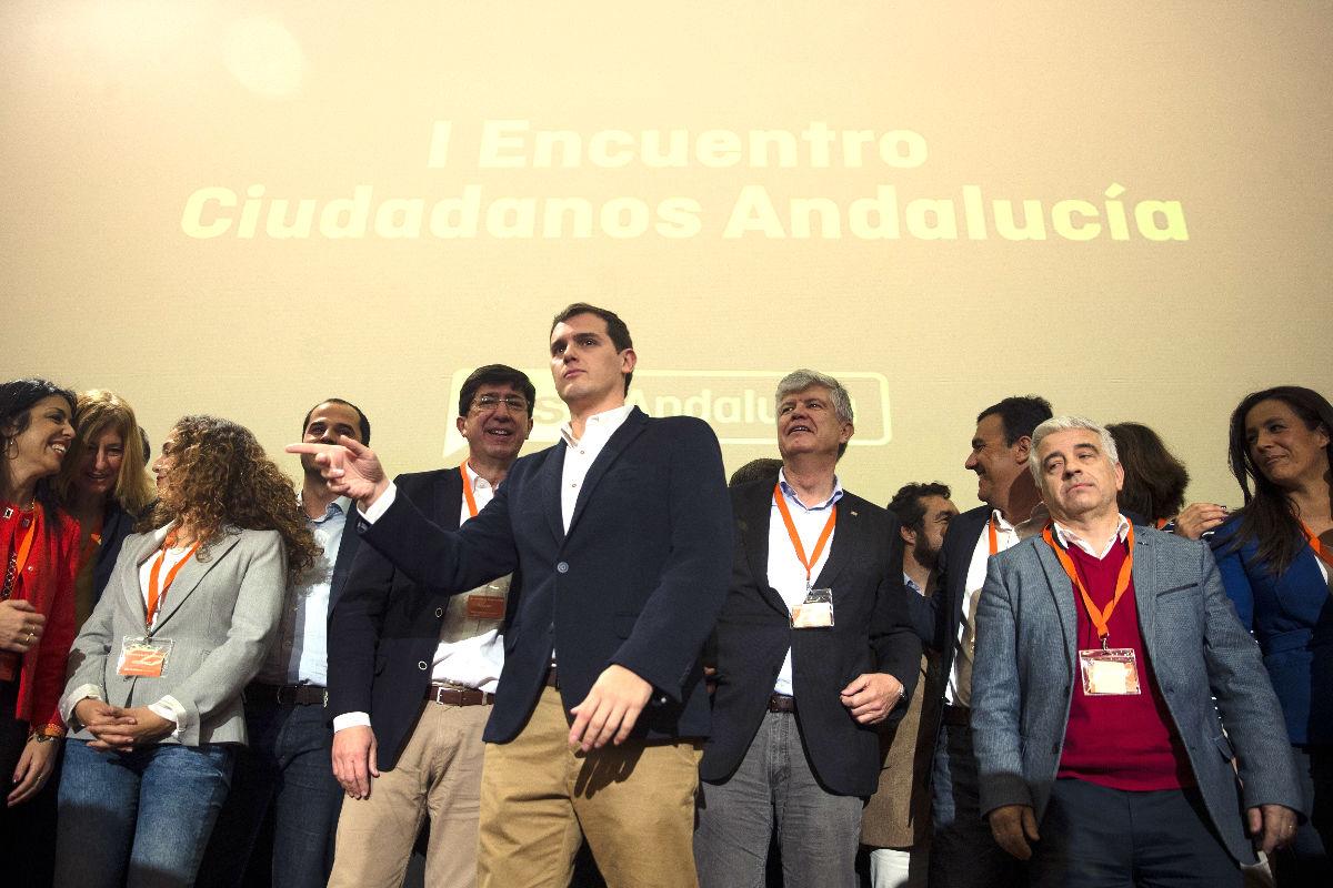 Albert Rivera en el acto de Ciudadanos Andalucía (Foto: Efe).