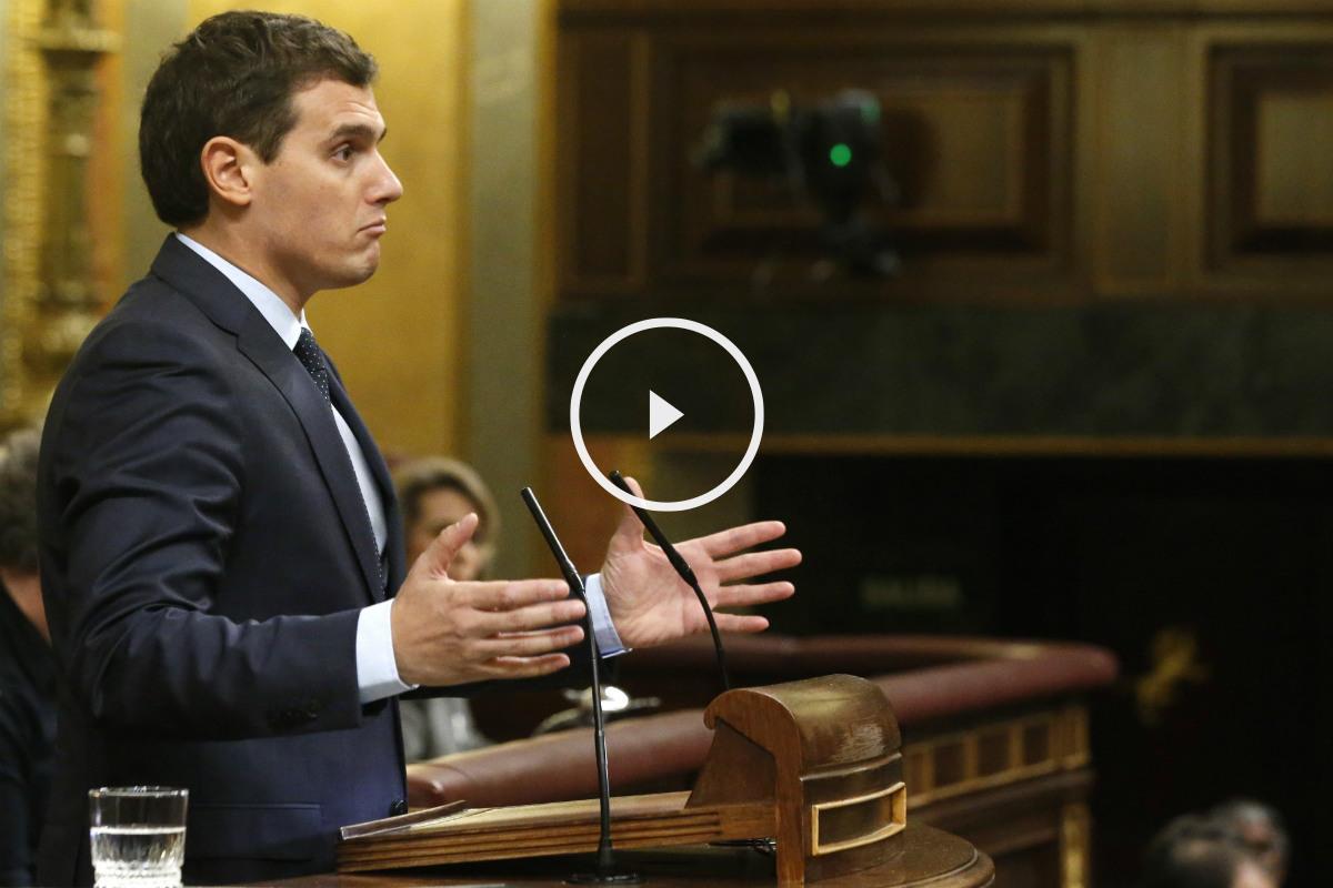 Albert Rivera, durante el debate de investidura. (EFE)