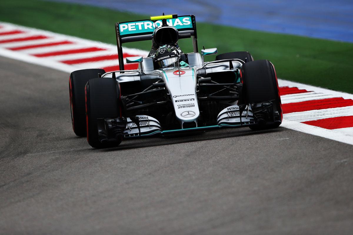 Nico Rosberg voló hacia la Pole en Rusia (Getty)