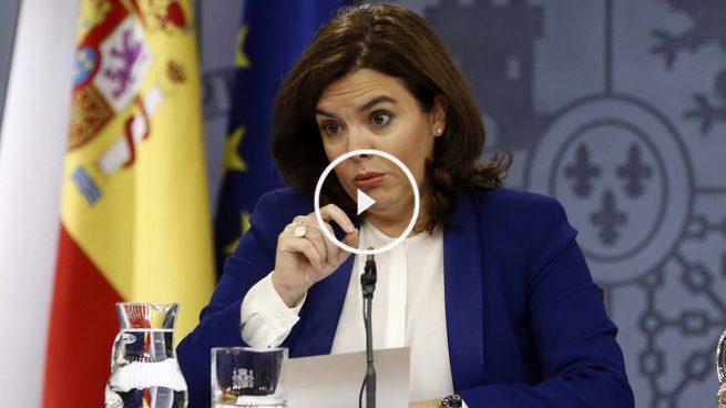 Sáenz de Santamaría: «Cuando Sánchez admita que es imposible su pacto, Rajoy llamará»