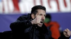 Simeone enloqueció con la victoria en el Allianz Arena. (Getty)