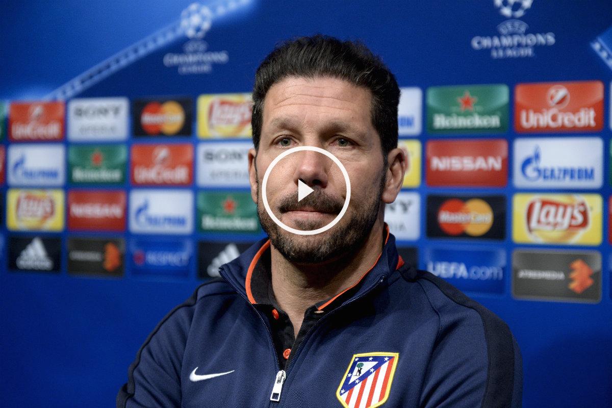 Simeone analizó el Barça-Atleti en rueda de prensa. (AFP)