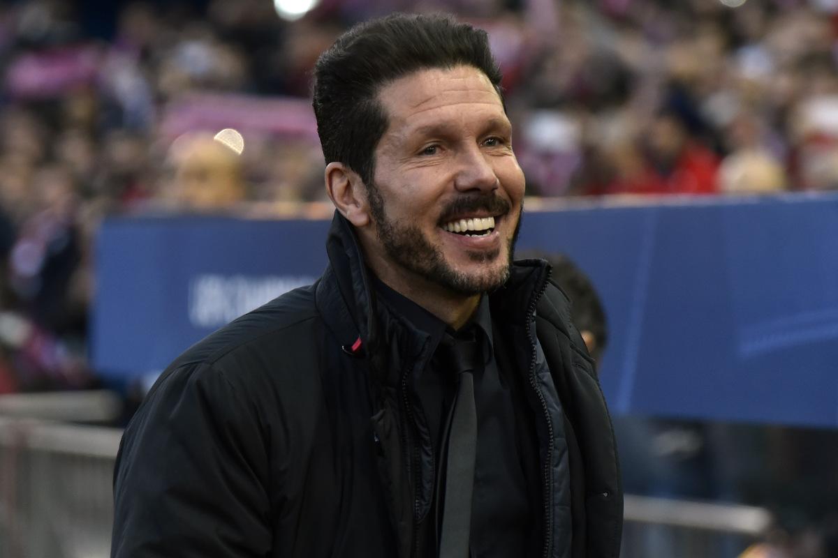 Simeone, feliz por la victorIa. (AFP)
