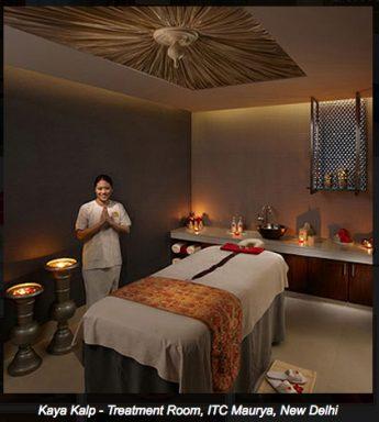 Imagen de una de las salas de masaje del Spa.
