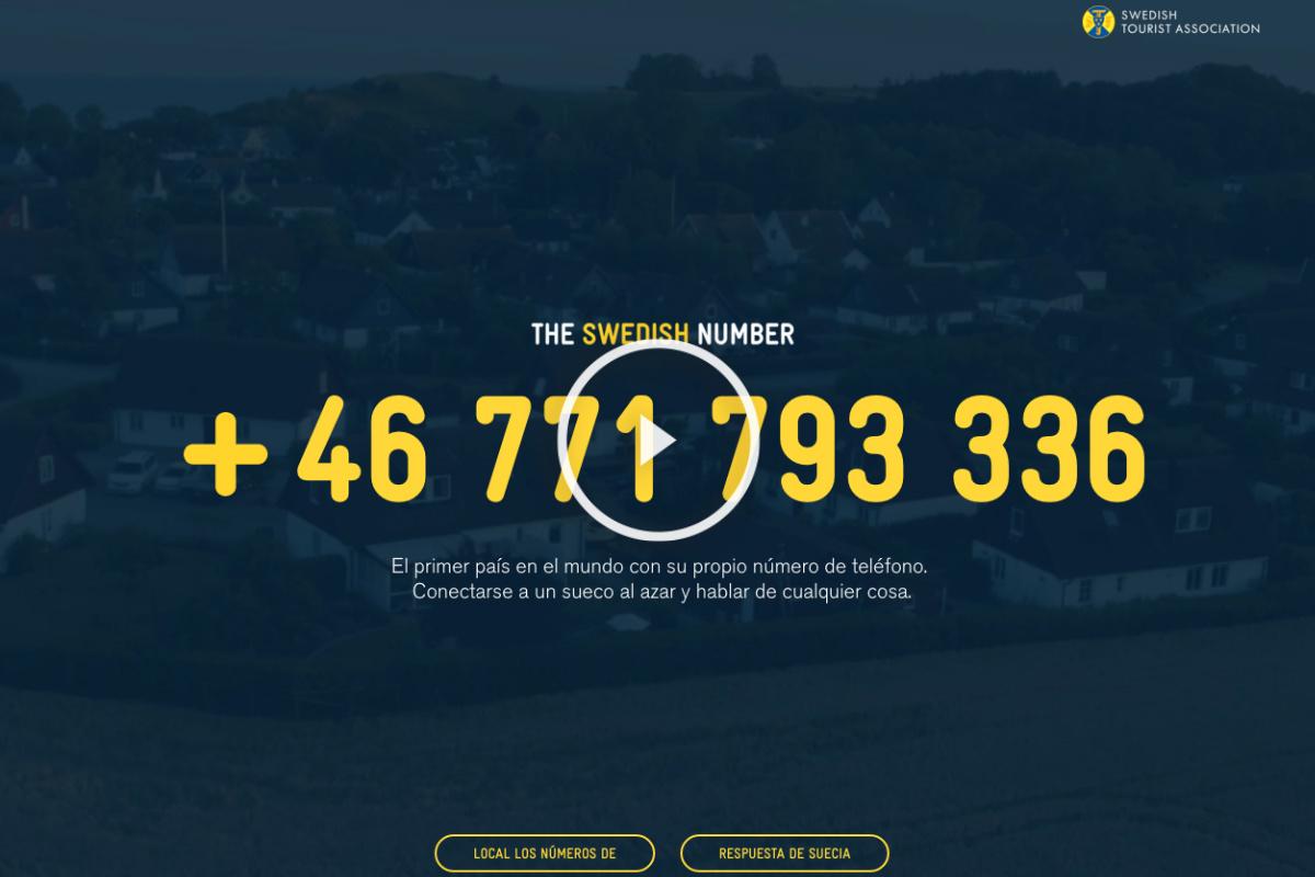Este es el número de teléfono de Suecia, puedes llamar y hablar con ellos personalmente.