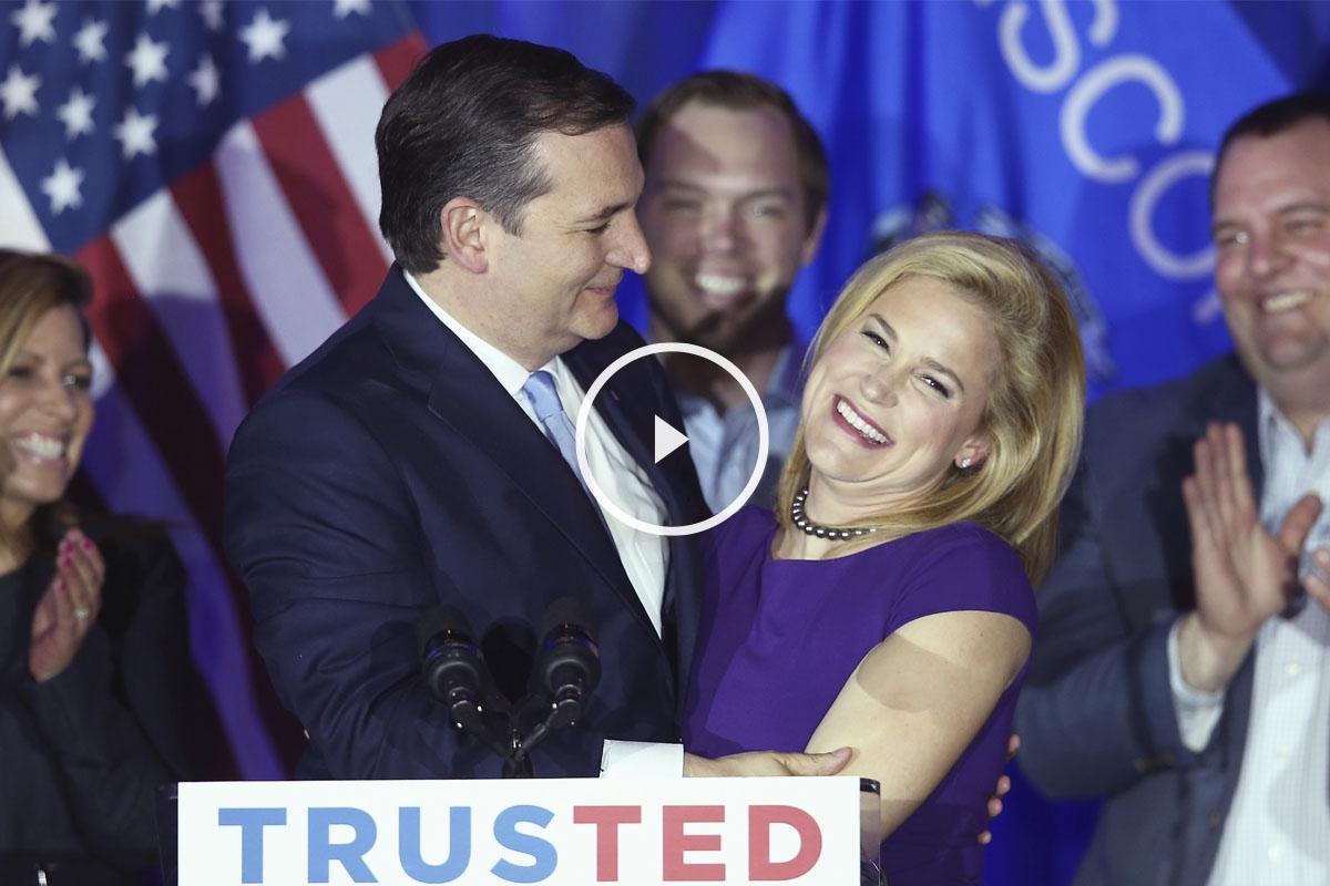 Ted Cruz y su esposa, Heidi. (Foto: AFP)