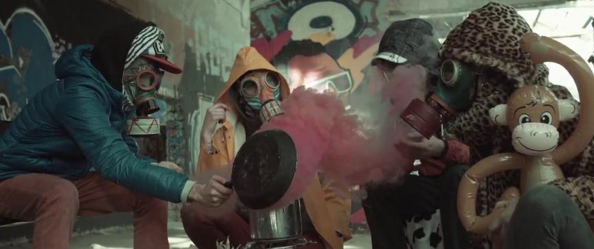Tremenda Jauría en un videoclip. (Foto: YT)