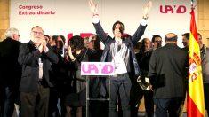 Gorka Maneiro tras ser elegido nuevo líder de UPyD (Foto: Efe).