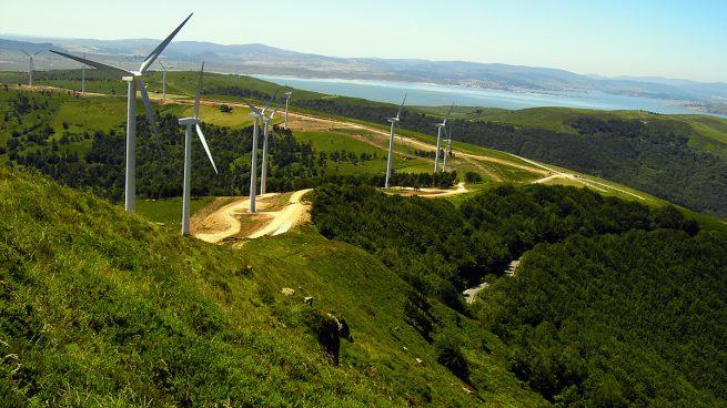 Parque eólico de Iberdrola en Valdeporres, Burgos.