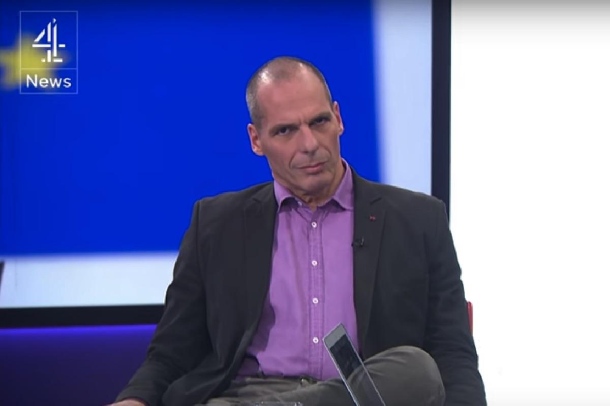 Varoufakis, en los estudios de la televisión inglesa. (Foto: Channel 4)