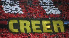 El mosaico del Calderón ante el PSV. (Reuters)