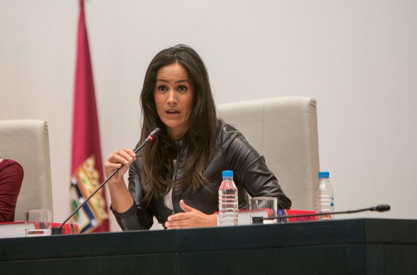 La líder municipal de Ciudadanos en el Pleno. (Foto: Madrid)
