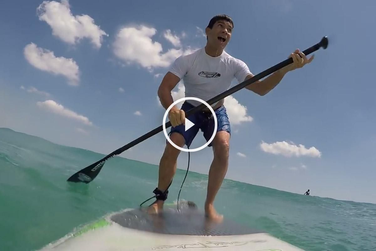 Tiburón y el surfista