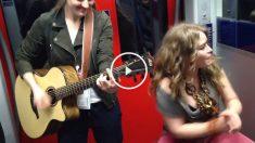 Cantantes en el metro
