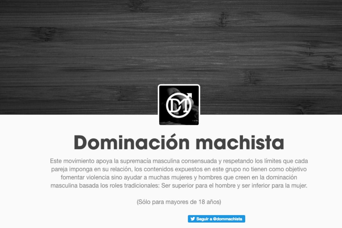 Web Dominación Machista.