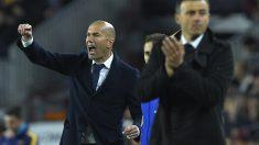 Zidane celebra uno de los goles del Real Madrid. (AFP)