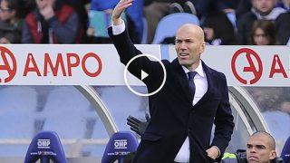 Zidane da órdenes en Anoeta. (AFP)