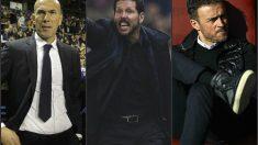 Zidane, Simeone y Luis Enrique.