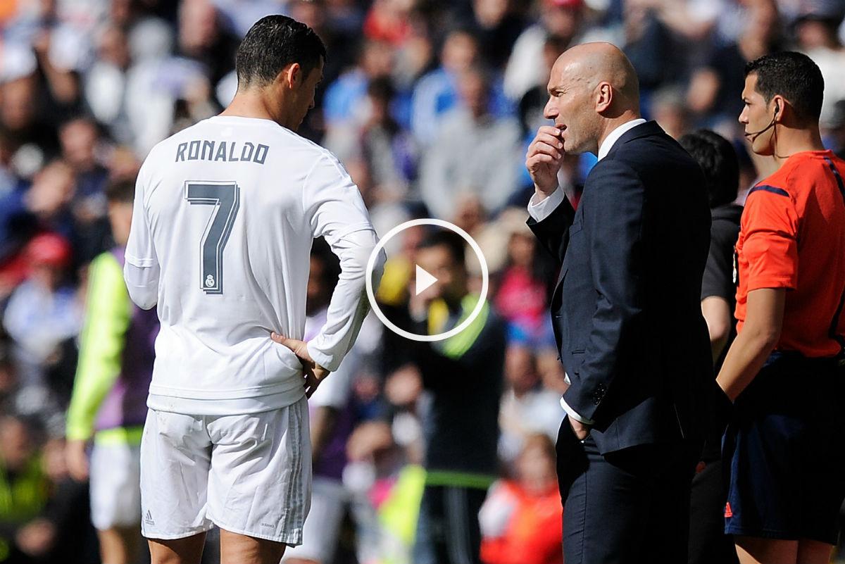 Zidane da instrucciones a Cristiano contra el Eibar. (Getty)
