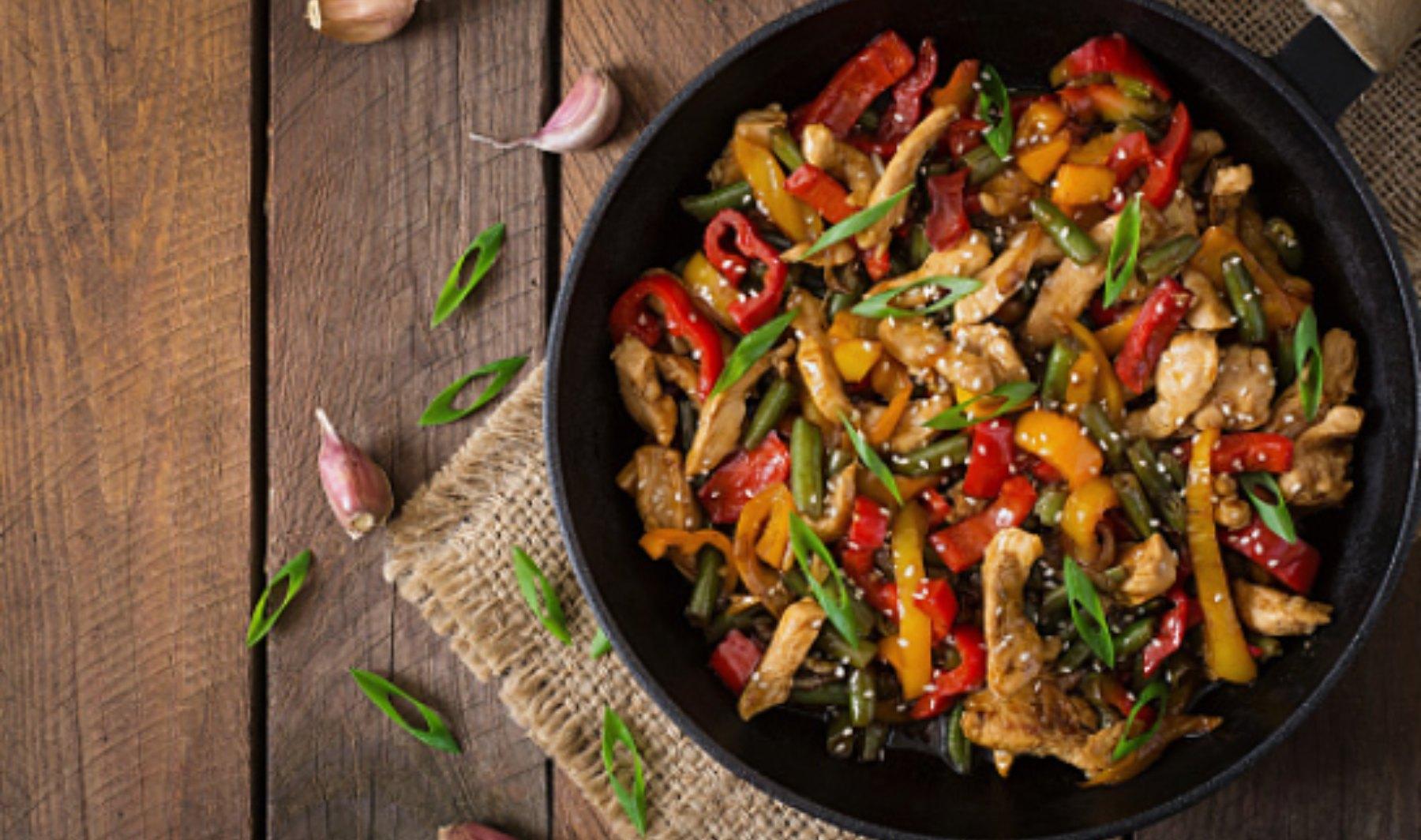 Verduras salteadas al más puro estilo chino