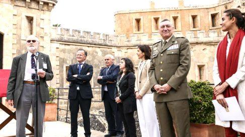 De izquierda a derecha: Charles Blackwood, Antonio Obrador, Luis Alejandre Sintes, Francisca Coll Borràs, Pilar Carbonell, Juan Cifuentes y Kika Salom.