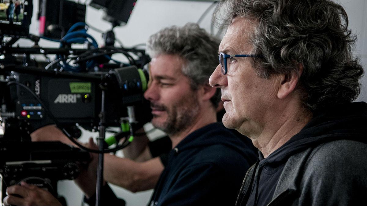 El productor Gerardo Herrero, durante un rodaje