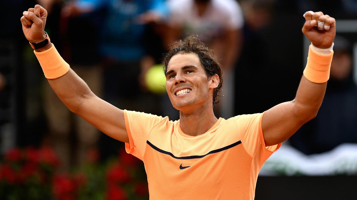 Rafa Nadal celebra su victoria ante Kyrgios. (Getty)