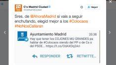 Tuit del Ayuntamiento de Madrid capturado por Ciudadanos. (Foto: @CsMadridCiudad)