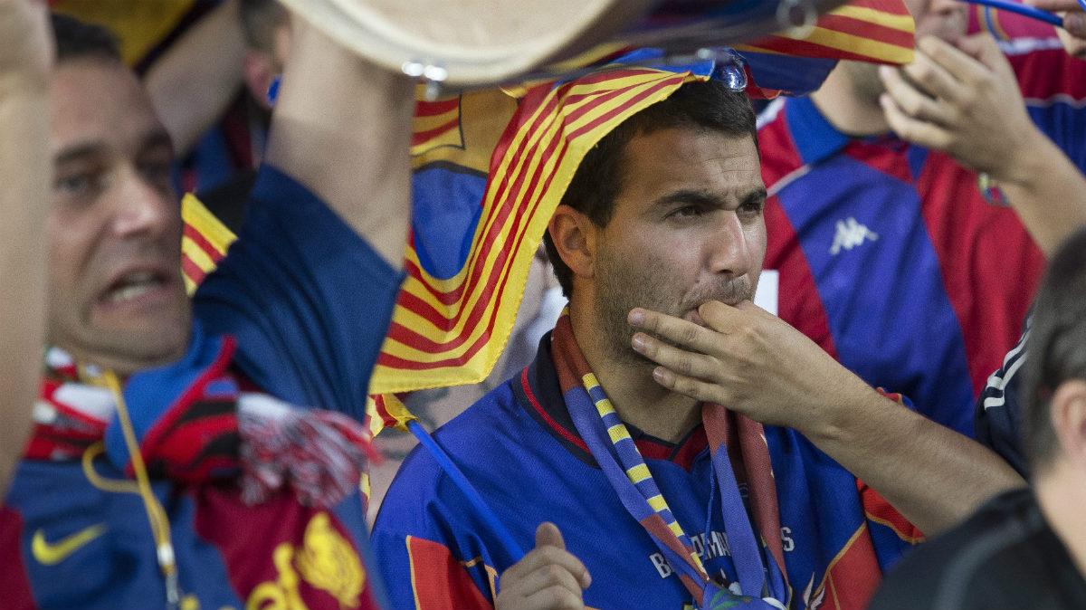 Los aficionados del Barça no están nada contentos con la gestión de Bartomeu. (Getty)