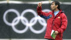 Luis Milla, en un entrenamiento con la selección olímpica. (AFP)