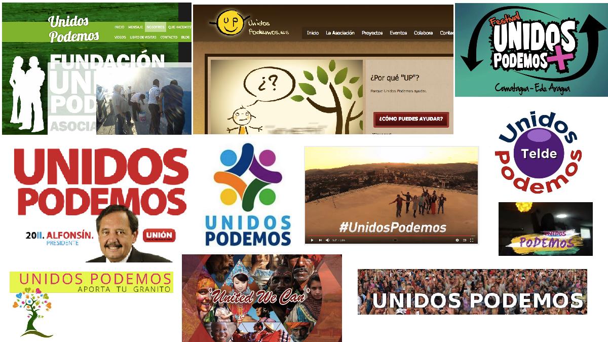 Otras marcas de 'Unidos Podemos'.