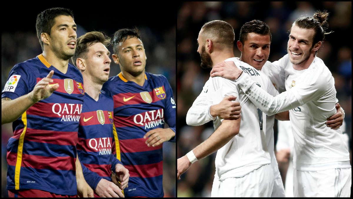 El Barcelona y el Real Madrid se juegan la Liga en la última jornada.