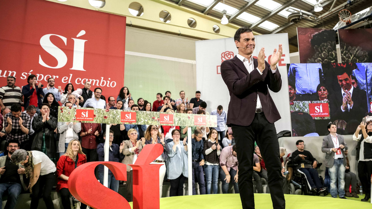 Pedro Sánchez durante su intervención (Foto: Efe).