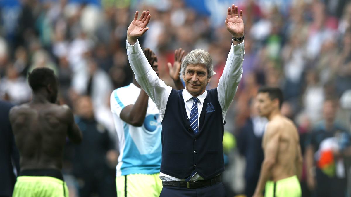 Pellegrini cierra su última temporada en el City como cuarto de la Premier. (Reuters)