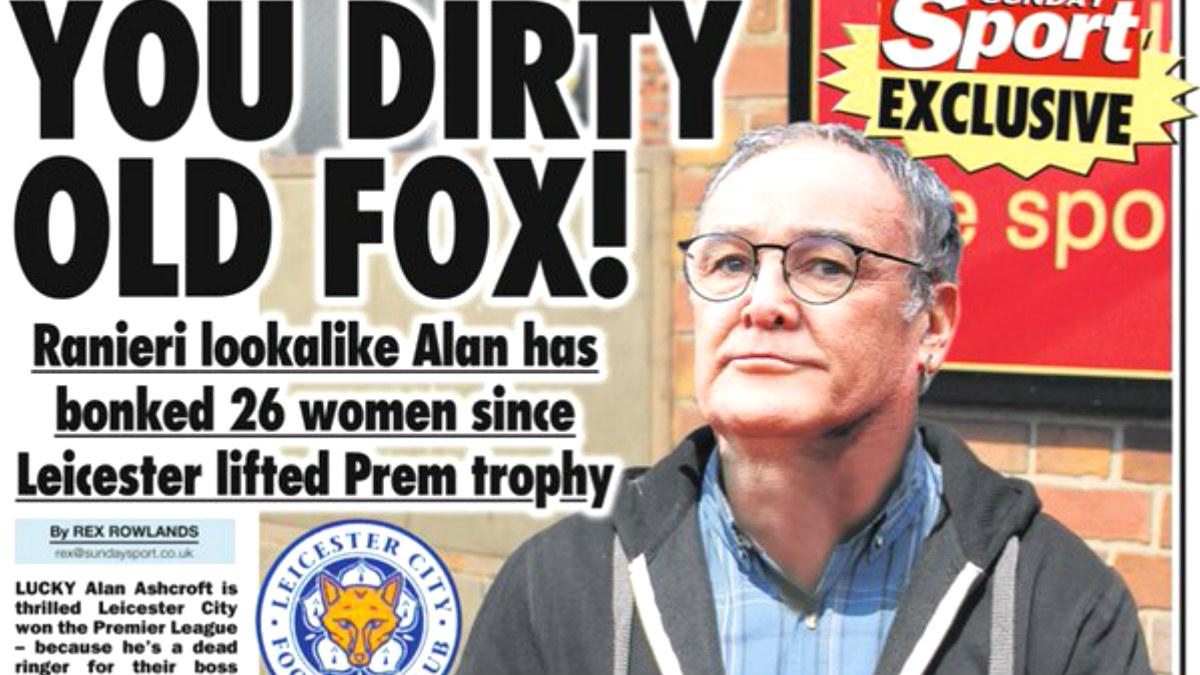 El doble de Ranieri que asegura haberse acostado con 26 mujeres.
