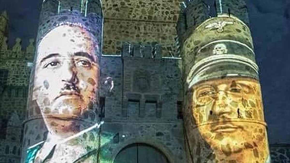 Franco y Himmler en la proyección de Guadamur.