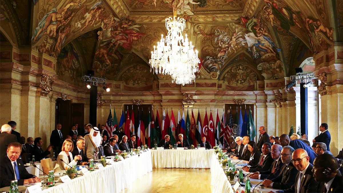 Reunión en Viena donde se ha tratado la cuestión libia (Foto: Reuters)