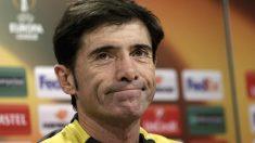 Marcelino García Toral durante una rueda de prensa la pasada temporada. (Reuters)