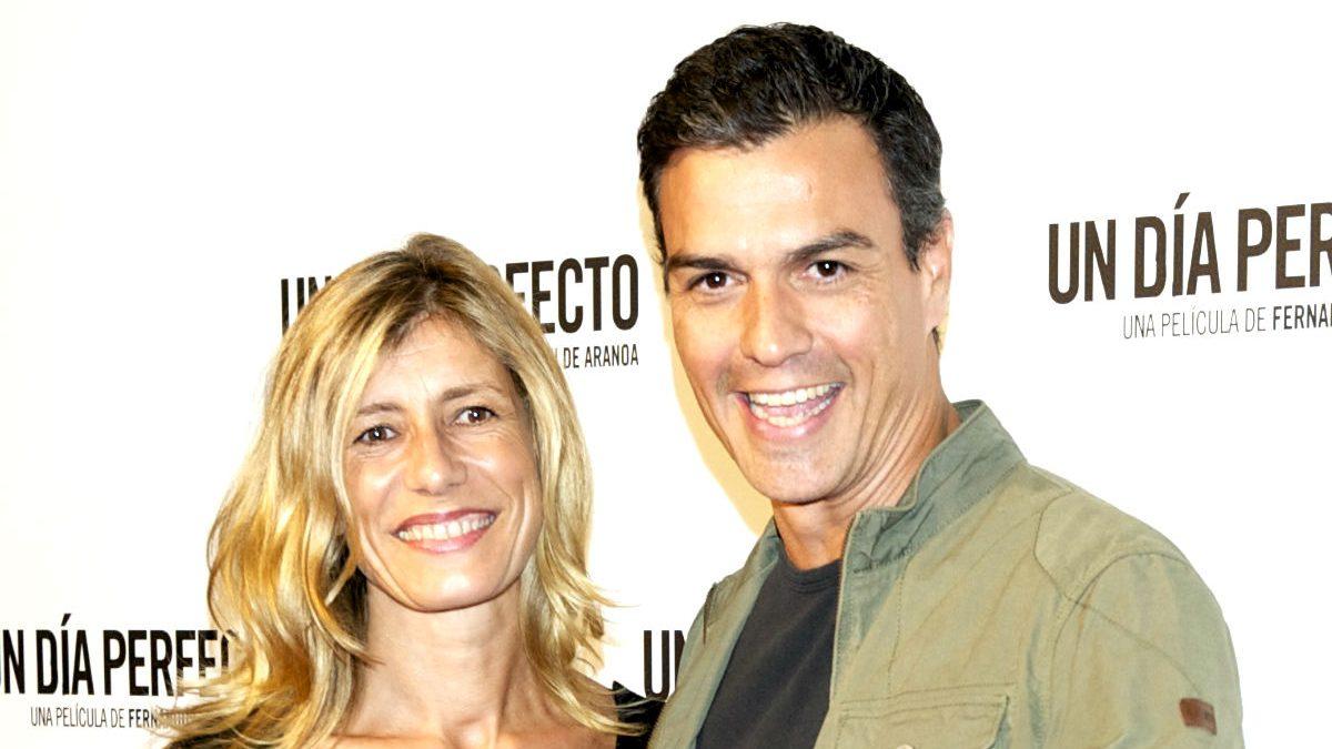Pedro Sánchez y su mujer, Begoña Gómez (Foto: Getty)
