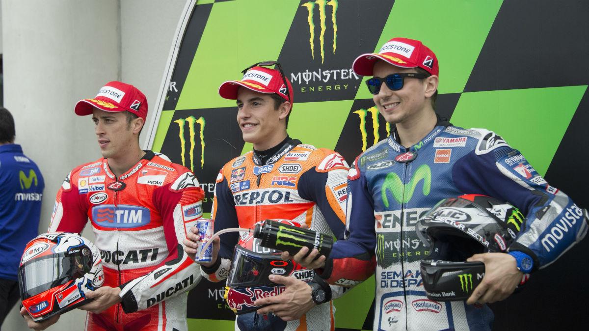 Dovizioso está alineado con Márquez y Lorenzo en la guerra contra Rossi. (Getty)